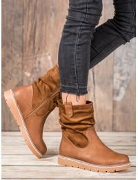 Patogūs rudos spalvos batai su pašiltinimu - BM-6092C