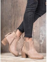 Madingi smėlio spalvos batai neslystančiu padu - OM5313KH