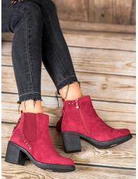 Madingi vyno spalvos batai neslystančiu padu - OM5313WI