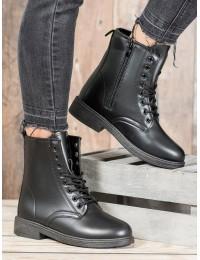 Klasikiniai juodi odiniai suvarstomi batai - J48B