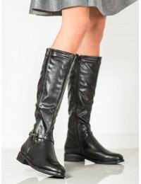 Juodi klasikiniai žieminiai ilgaauliai batai - SP37B