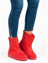 Raudoni šilti žieminiai batai - ANN19-14401R