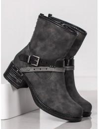 Pilkos spalvos žieminiai batai - 7-Y9773G