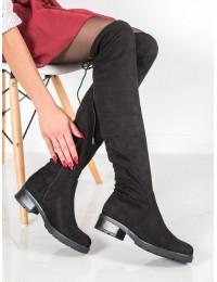 Juodos spalvos klasikiniai juodi stilingi ilgaauliai - PM18224B