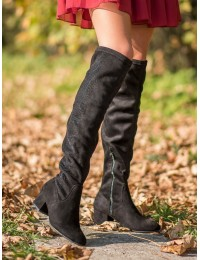 Elegantiški juodi ilgi batai - 995-38B