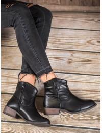 Juodi odiniai batai kasdienai - FR-1169B