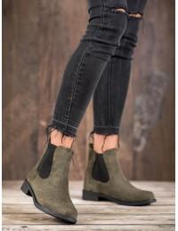 Stilingi zomšiniai batai su elastingais tampriais šonais - B-6856GR
