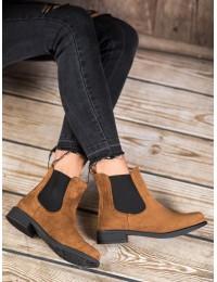 Stilingi zomšiniai batai su elastingais tampriais šonais - B-6856C