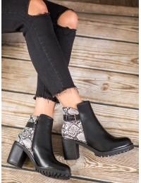 Madingi aukštos kokybės batai su platforma SNAKE PRINT  - DD110B