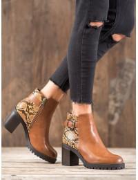 Madingi aukštos kokybės batai su platforma SNAKE PRINT  - DD110C