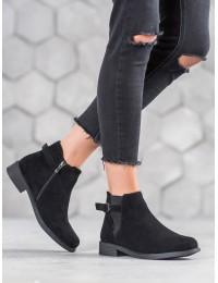 Zomšiniai juodos spalvos kokybiški batai su pašiltinimu - B-6857B