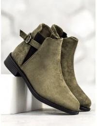 Zomšiniai chaki spalvos kokybiški batai su pašiltinimu - B-6857GR