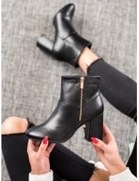 Elegantiški juodos eko odos batai - 7755NE