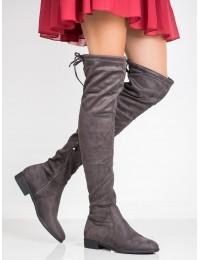 Madingi pilkos spalvos ilgi batai - H8109G