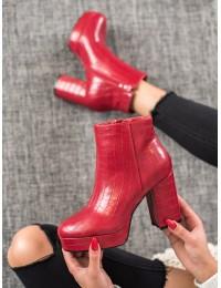 Išskirtiniai odiniai raudonos spalvos batai su platforma - OM295R