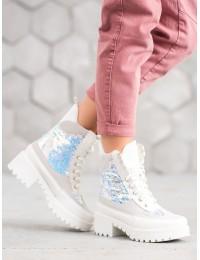 Balti madingi batai su platforma - NC930W
