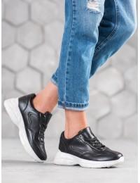 Juodi madingi SNEAKERS modelio batai - BY-086B