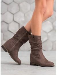 Rudi zomšiniai batai - 9475KH