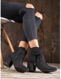 Klasikiniai zomšiniai juodi batai - PE221B