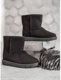 UGG stiliaus juodi batai žiemai\n - NB302B