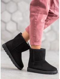 UGG stiliaus juodi batai nusegamu kailiuku\n - NB302B