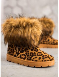 Šilti batai LEOPARD PRINT nusegamu kailiuku\n - NB302LEO