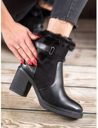 Juodi stilingi batai su avikailiu - LZ05-1B