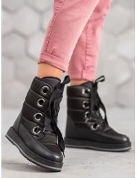 Juodi lengvi žieminiai batai - S433B