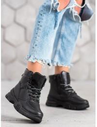 Juodi madingi batai su pašiltinimu - AB605B