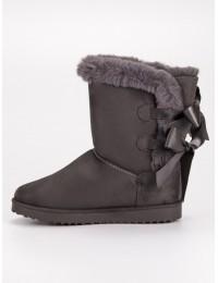 Šilti žieminiai UGG stiliaus batai su kaspinėliais - LV59G