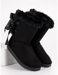 Šilti žieminiai UGG stiliaus batai su kaspinėliais - LV59B