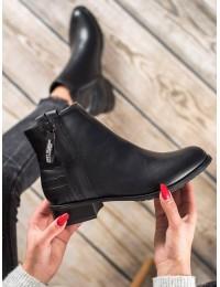 Juodi aukštos kokybės eko odos batai - M329B