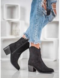 Zomšiniai kaubojiško stiliaus batai - 5689B