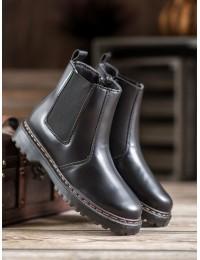 Juodi madingi aukštos kokybės batai - DJH02B