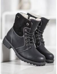 Juodos spalvos batai su avikailiu - 1080B
