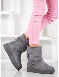 Šilti pilkos spalvos batai rudeniui/ žiemai  - C-10G