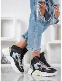 Madingi originalūs batai su kailiuku - DML203B