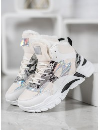Madingi originalūs batai su kailiuku - DML203W