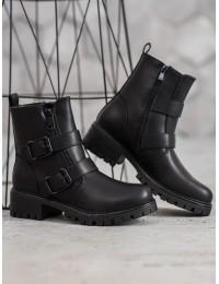 Madingi juodos spalvos batai - 7-X8172B
