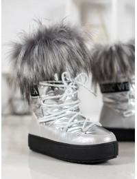 Madingi šilti žieminiai batai su kailiu - BK915S