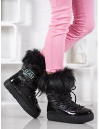 Madingi šilti žieminiai batai su kailiu - BK915B