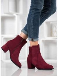 Elegantiški klasikiniai bordo spalvos batai - V19043WI