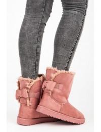 Rožinės spalvos šilti lengvi batai - LC9672P