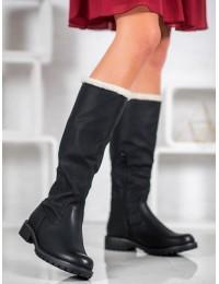 Šilti patogūs juodi batai žiemai - Z112B