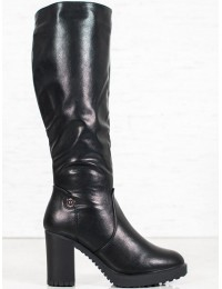 Elegantiški juodos spalvos klasikiniai ilgaauliai - Q500-07B