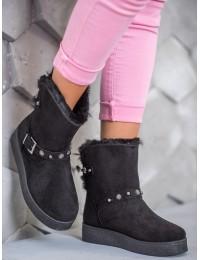 Juodi šilti žieminiai batai - C-10B/