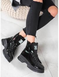 Madingi išskirtiniai lakuotos odos batai su platforma - BK-920B