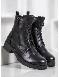 Juodos spalvos stilingi juodi batai - A8151B