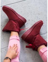 Bordo spalvos šilti patogūs batai - A-3WI