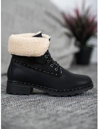 Juodos spalvos šilti batai su avikailiu - DX1829B